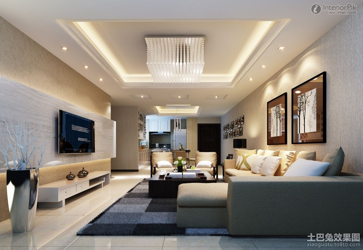 Modern mansion living room with tv perfect design 9 on for Contemporary style living room