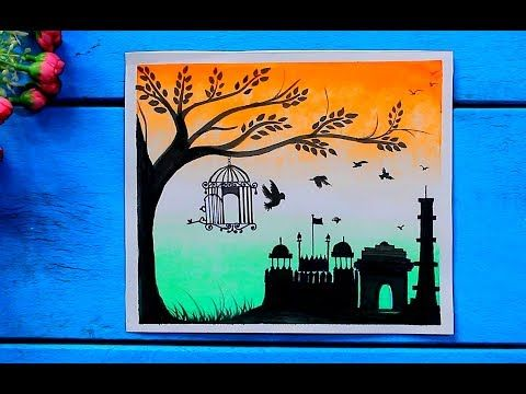 (3088) Republic Day Painting For Kids using Simple and ...