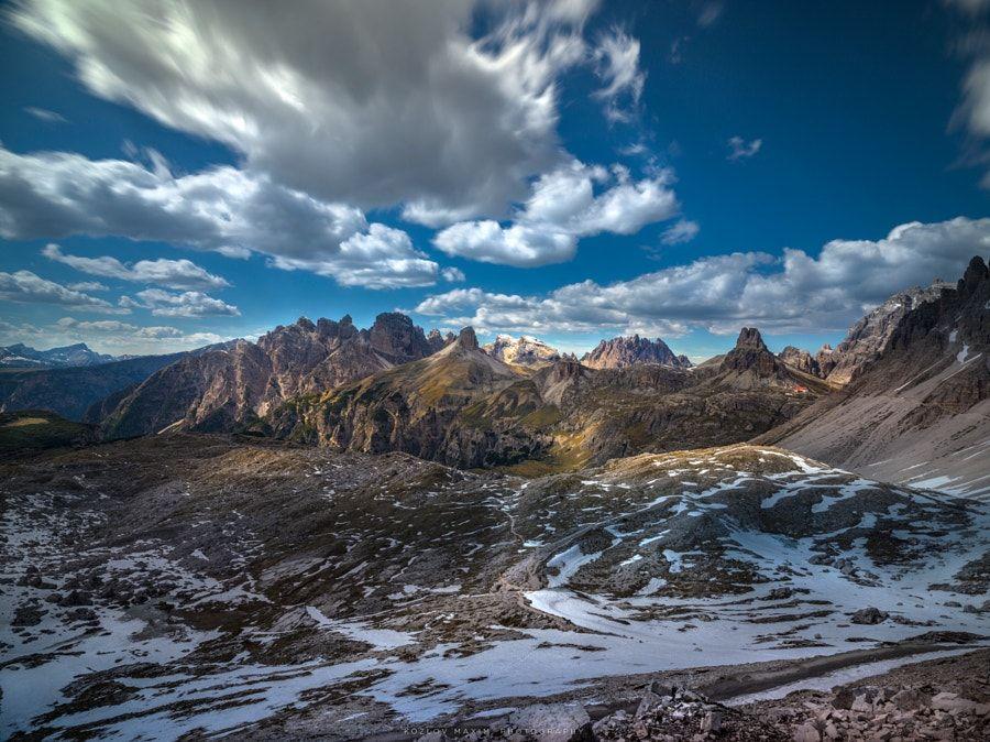 Tre Cime di Lavaredo. Valley. by Maxim K.