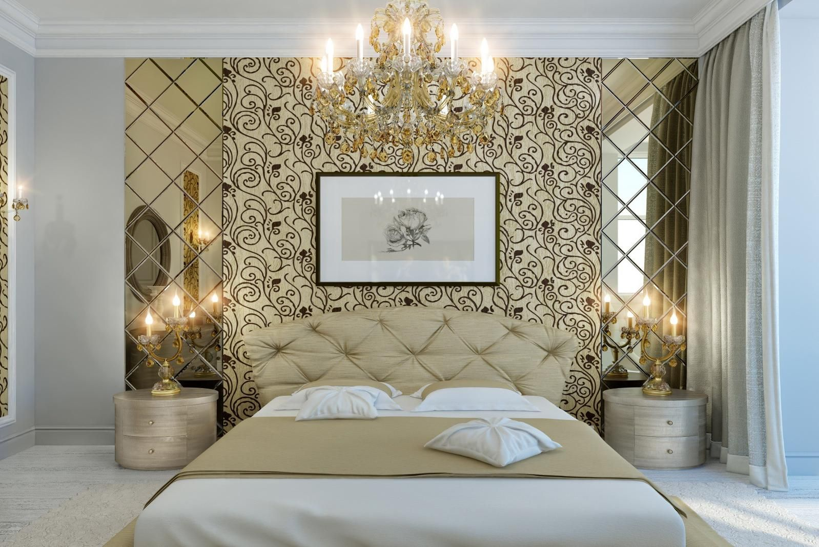 Small Bedroom Gold And White Grey And Purple Bedroom Ideas For Women Fence Living Tropical Large Gold Schlafzimmer Damenschlafzimmer Luxusschlafzimmer