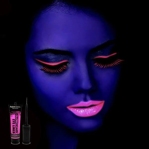 maquillaje neon que brilla en la oscuridad    barritasfluor