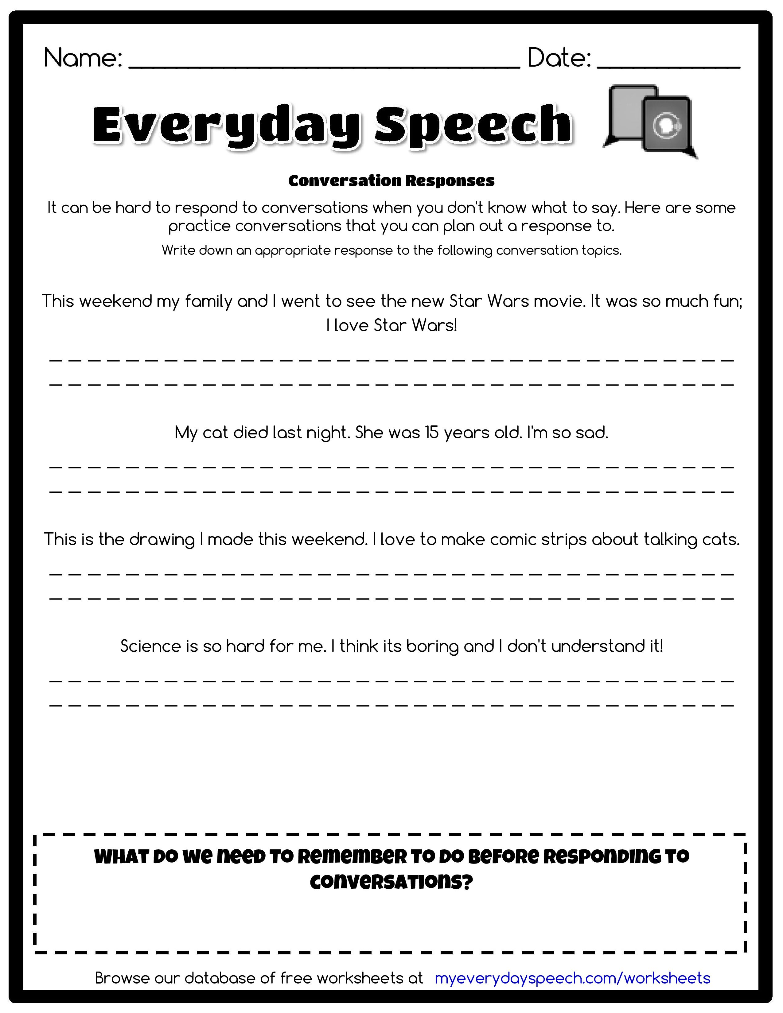 Worksheet Creator With Images Coping Skills Worksheets Speech