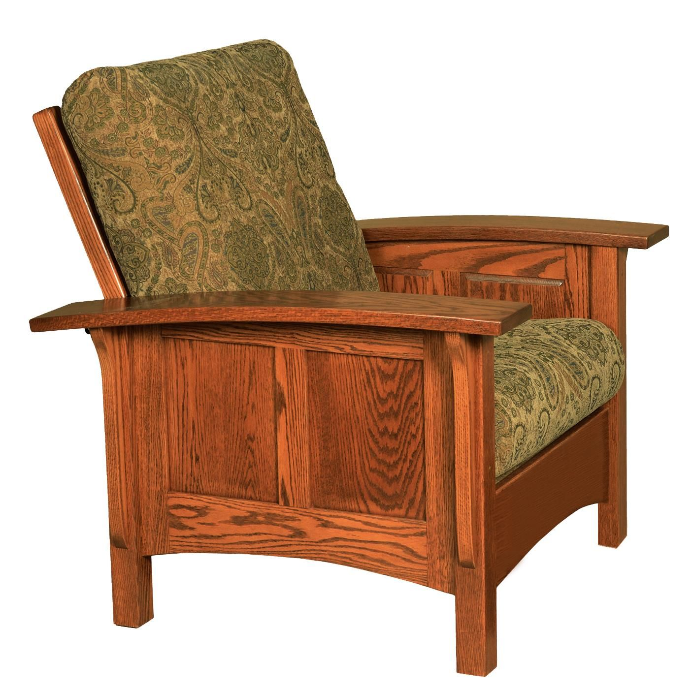 Amish Paneled Mission Morris Chair Living Room Furniture
