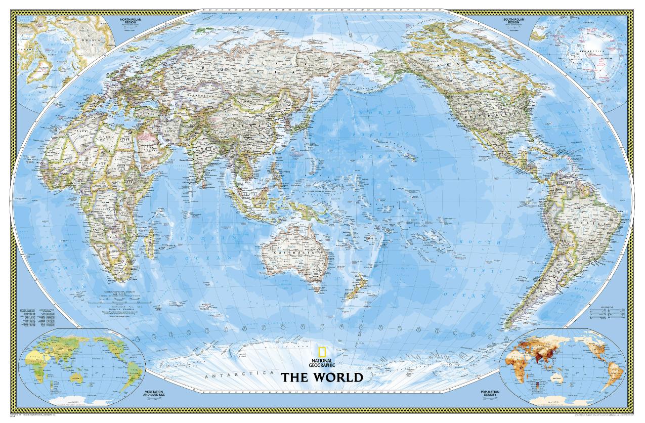 Political World Map pacific rim 16 90 Reisproducten Pi