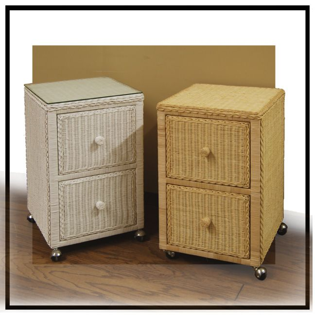 Wicker File Cabinet Filing