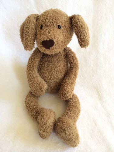 Jellycat Puppy Brown Tan Dog Lovey Plush Stuffed Animal Floppy