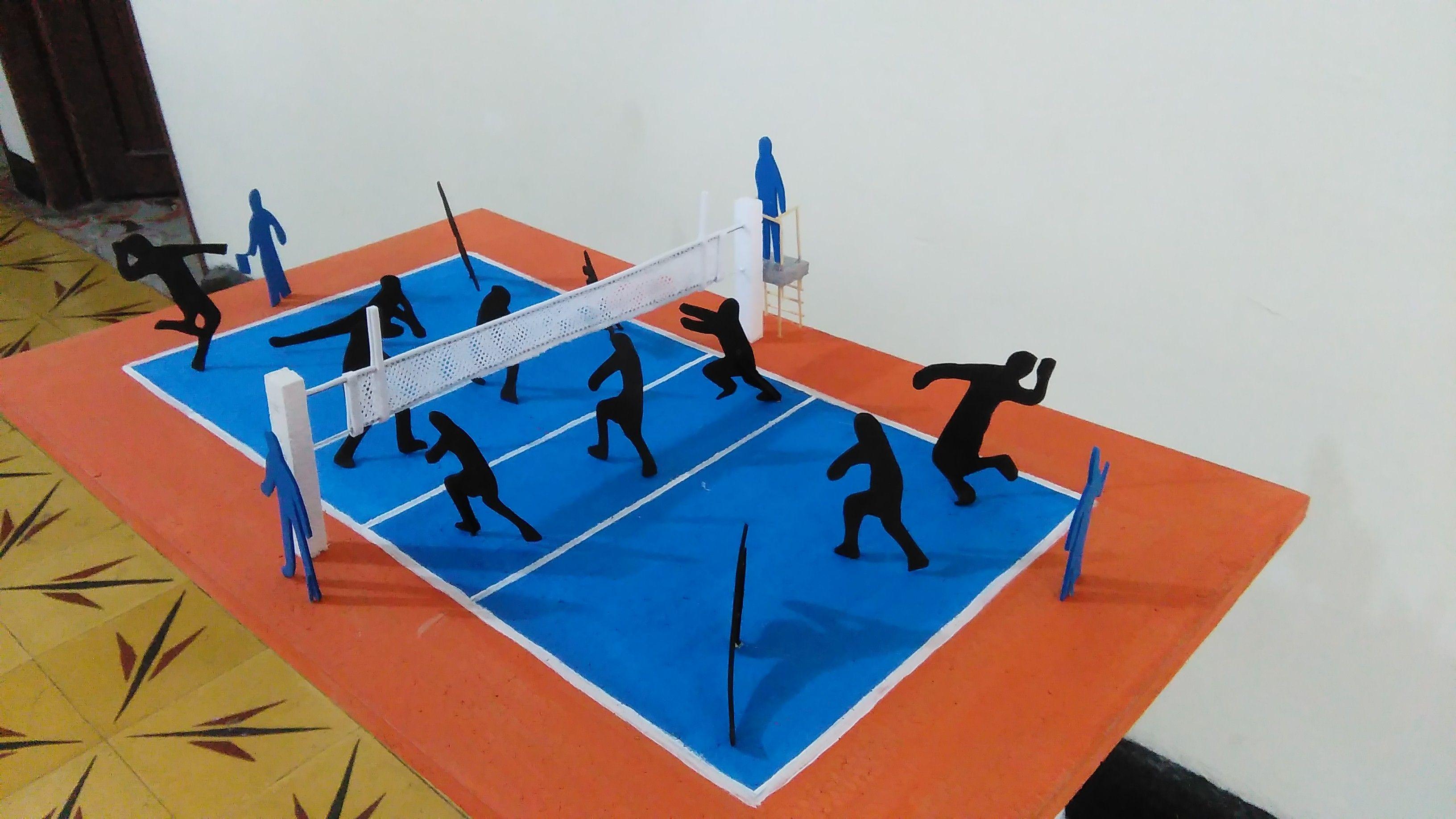 Pin De Maquetas Anyesca En Maqueta Cancha De Voleibol