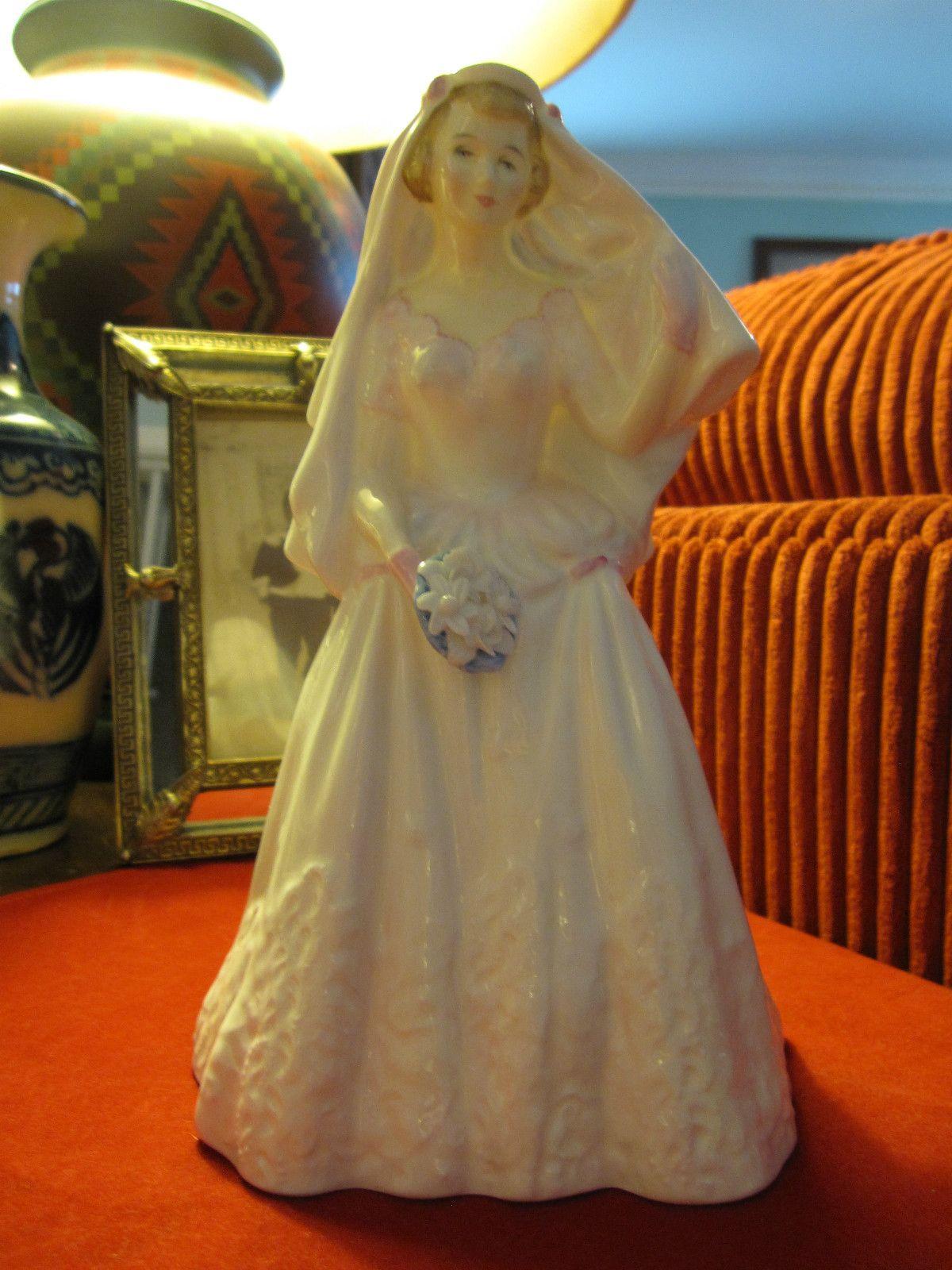 Royal Doulton England Pretty Lady The Bride HN2166 Bone China Figurine Lovely | eBay