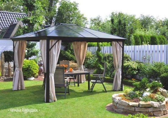 Foisor Metalic Pentru Gradina Large Backyard Landscaping Backyard Gazebo Outdoor Pergola