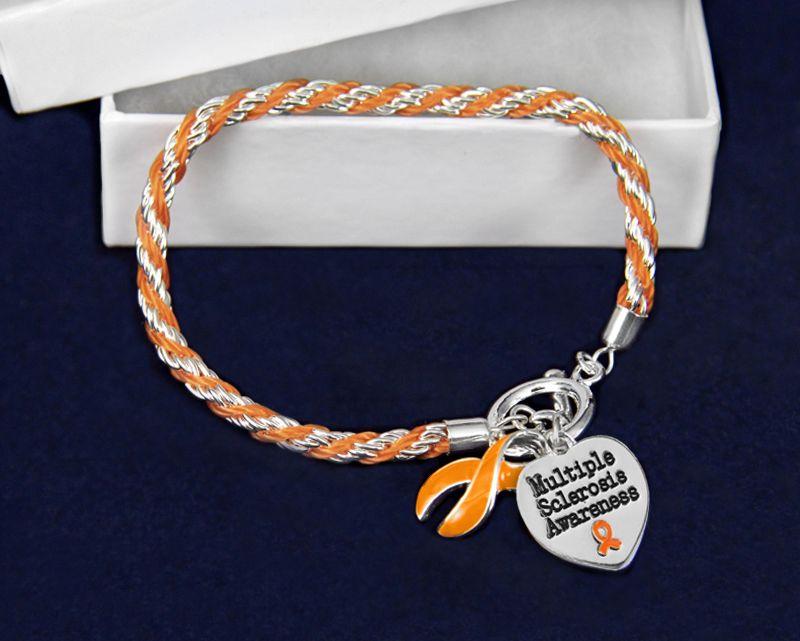 20 cm Multiple sclerosis// MS Awareness stunning Charm bracelet