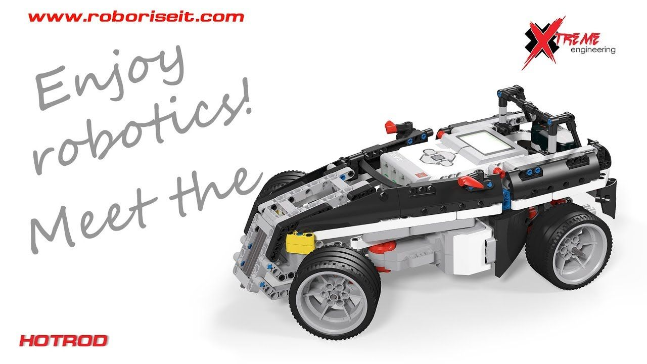 A Super Cool Hotrod Ev3 Robot With Steering Motor Front Traction And Suspension System Complete With Demo And Instructio Lego Mindstorms Lego Challenge Robot