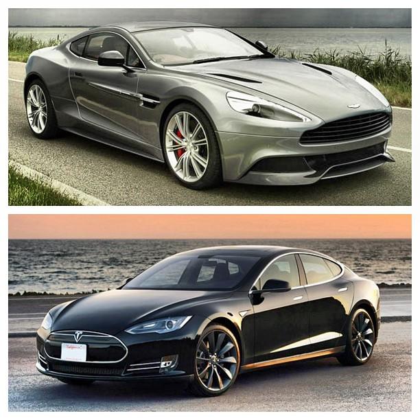 Aston Martin Vanquish Or The Tesla Model S Lux Cars Tesla Model S Aston Martin