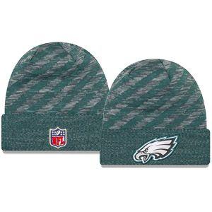 best website 963f1 1a190 New Era Philadelphia Eagles On Field 2018 Touchdown Winter Knit Hat