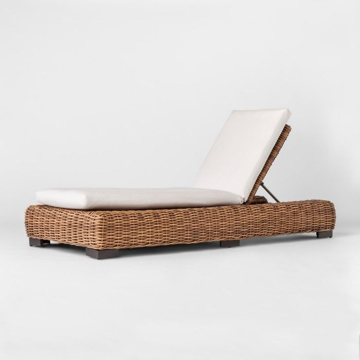 Eldridge Wicker Patio Chaise Lounge