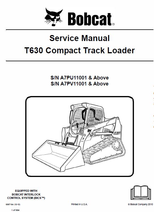 Bobcat T630 Loader Service Manual Operation And Maintenance Bobcat Repair Manuals