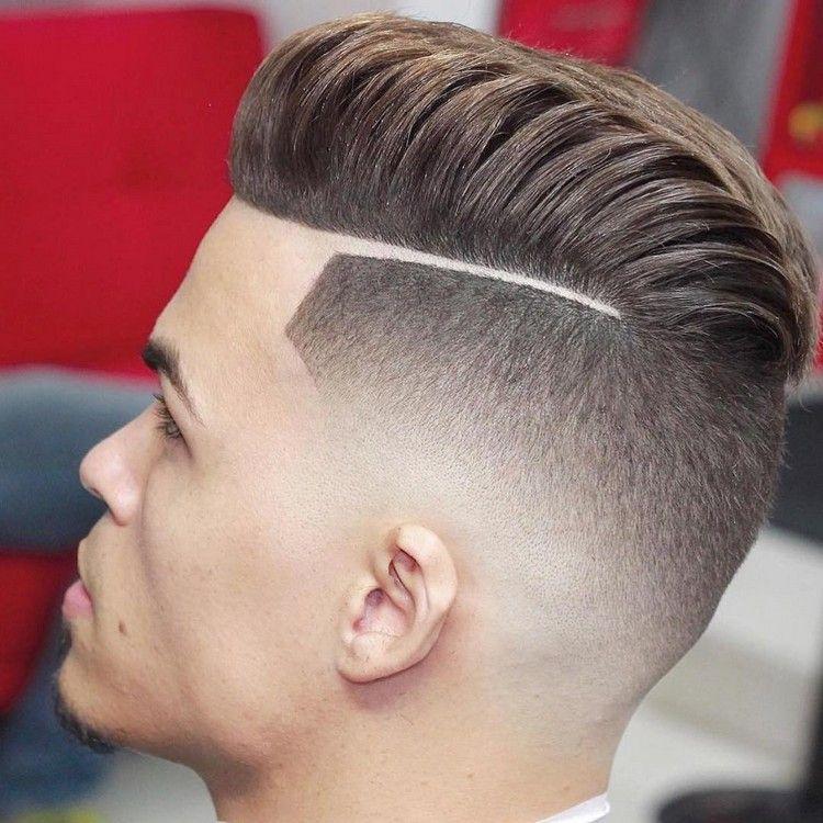 Moderne Frisuren Männer Undercut übergang Scheitel #hairstyles #hair
