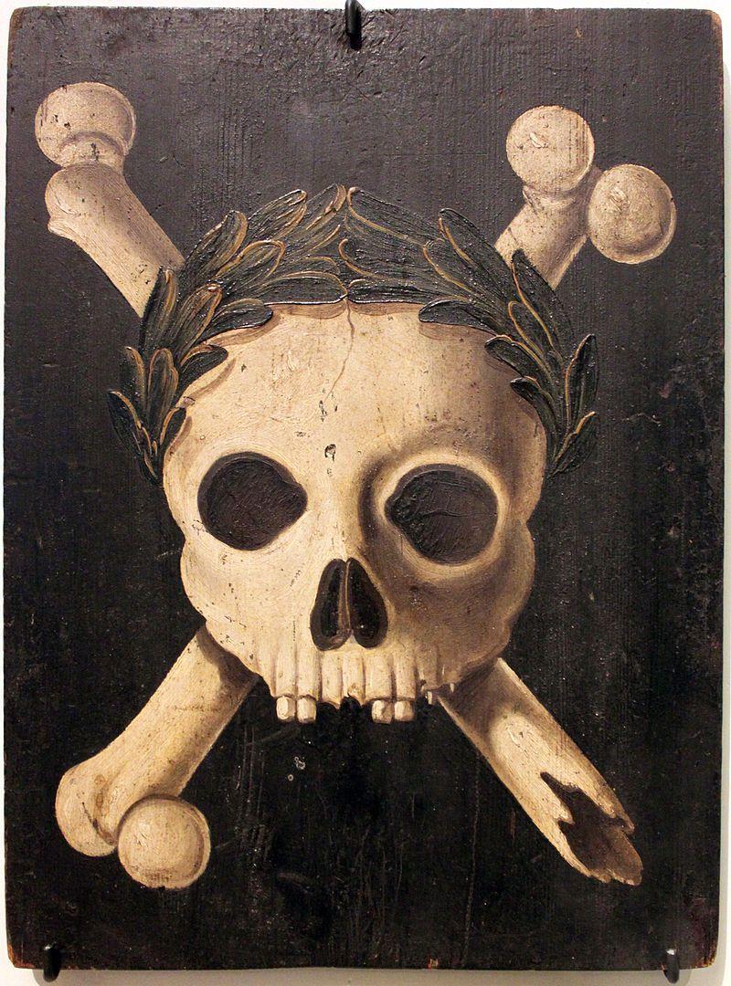 1607 35 Pesttafel Augsburg Anagoria Skull And Crossbones Symbol