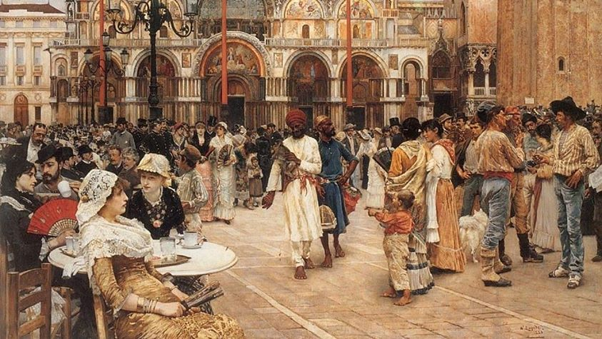 William Logsdail (1859 – 1944) Piazza San Marco. Venezia, 1883