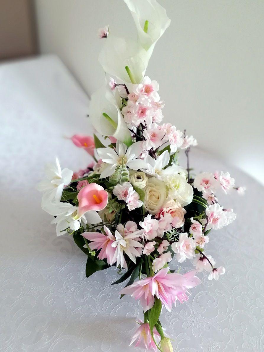 Kompozycja Na Cmentarz Pastelowa Nr 123 Swiateczne Atelier Floral Floral Wreath Diy And Crafts