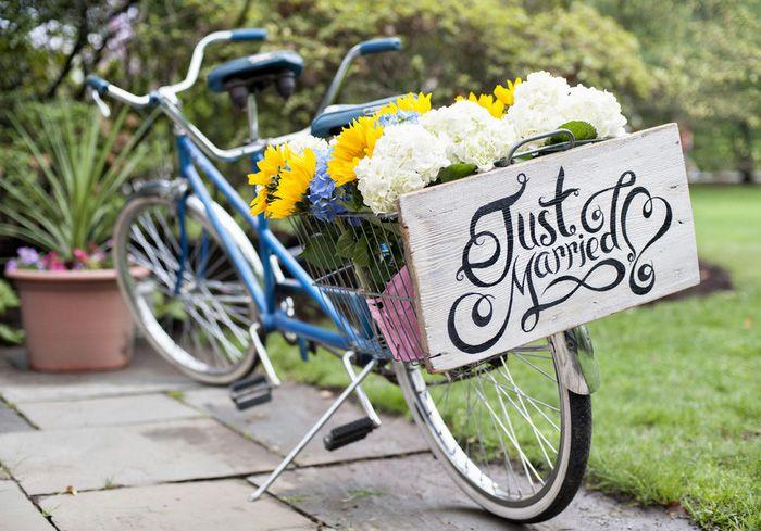Kari And Duncan S New York Backyard Wedding Bike Wedding