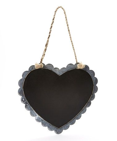 Another great find on #zulily! Gray Scalloped Heart-Shaped Chalkboard #zulilyfinds
