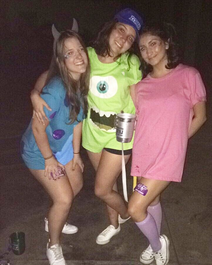 Trio Halloween Costume Ideas 2019.Monsters Inc Costume Idea Group Trio Friends Halloween Costumes In