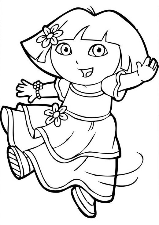Dora The Explorer Coloring Pages For Toddlers Dora Coloring Cartoon Coloring Pages Free Coloring Pages
