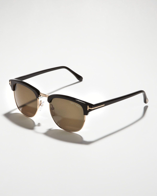 TOM FORD_Henry Sunglasses, Rose Gold/Black | Mens Optics | Pinterest
