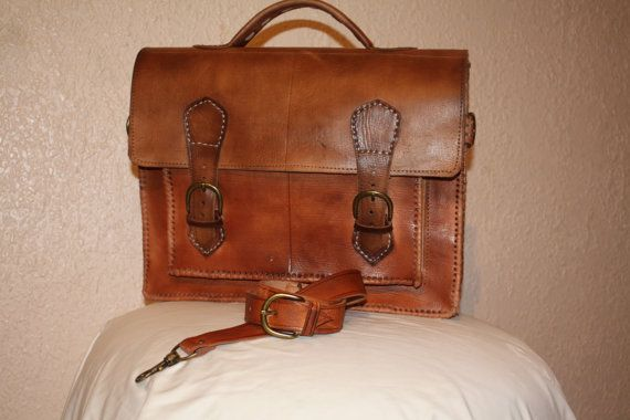 Brooklyn Leather Messenger Bag by Leatherfinerwork on Etsy