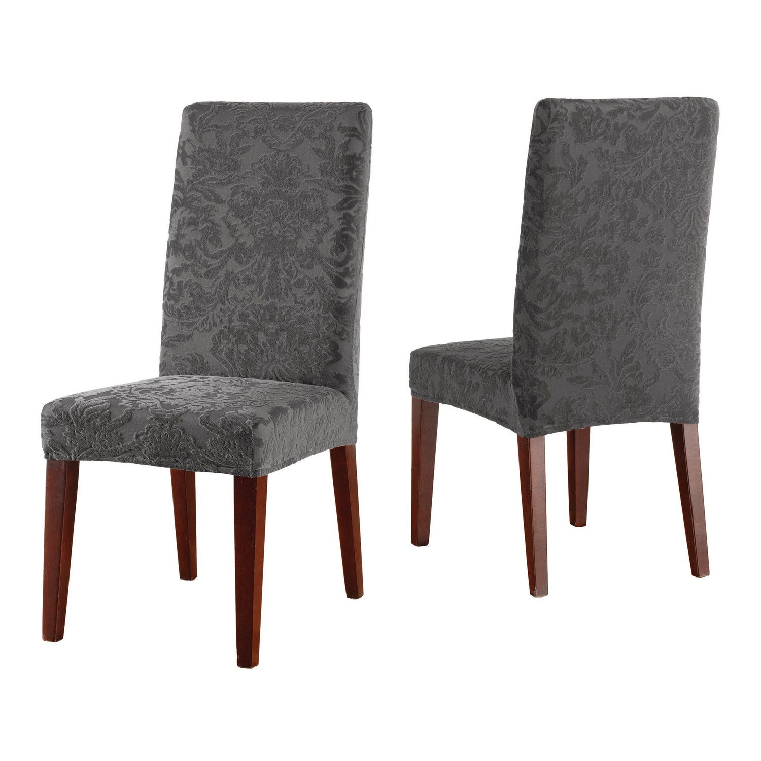 Stretch Jacquard Damask Dining Chair Slipcover Room SlipcoversDining