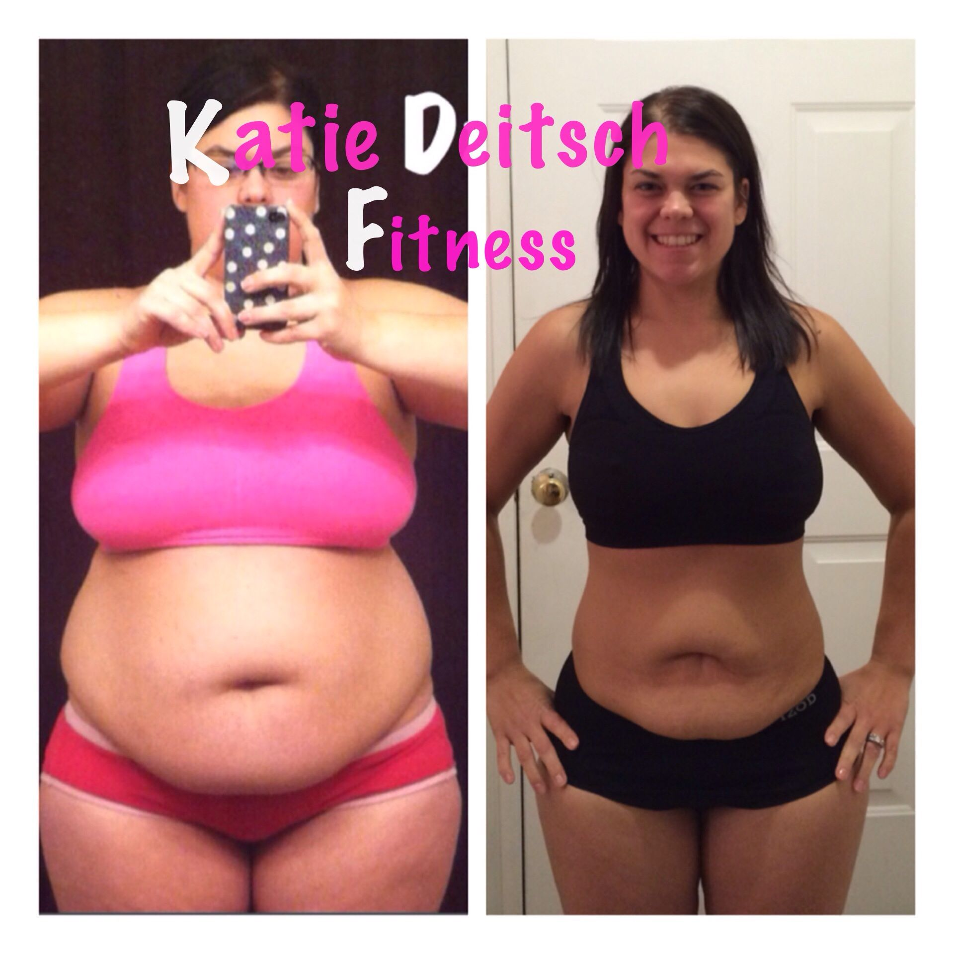 Transformation Tuesday- before and during   pic 8 months apart! From 206 lbs to 147 lbs using at home fitness programs!
