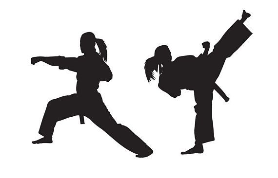 Karate Wall Decal Girl Version Sticker Kung Fu Martial Karate Stickers Kung Fu Martial Arts Karate Tattoos