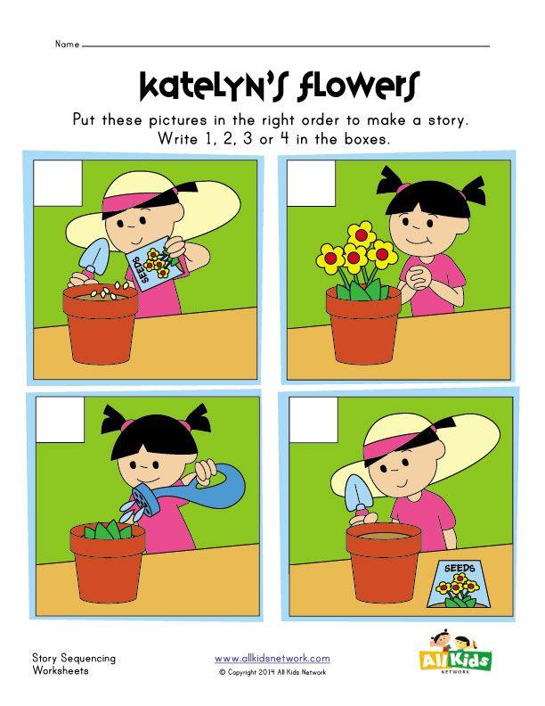 Sequencing Worksheet Flowers Sequencing Worksheets Sequencing Activities Kindergarten Sequencing Activities Preschool