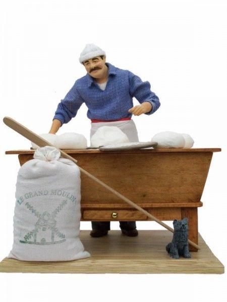 le boulanger p trin artisan fabriquant son pain dans son. Black Bedroom Furniture Sets. Home Design Ideas