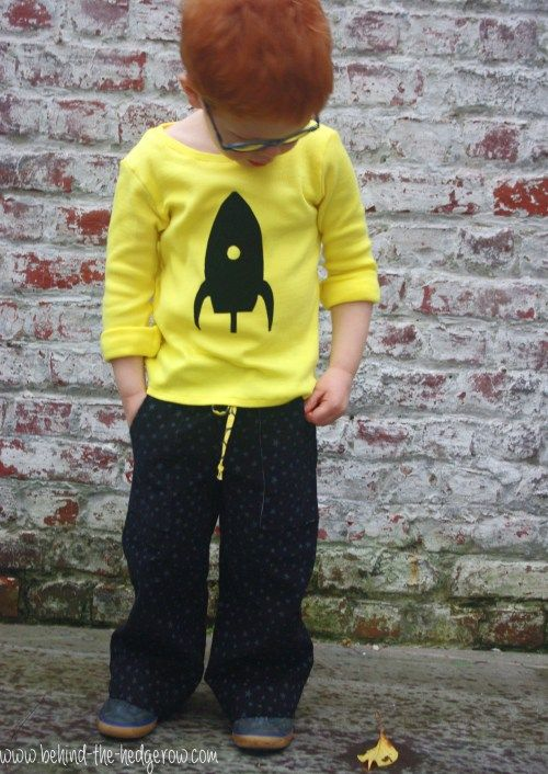 Sandbox Trousers and flocking tee. www.behind-the-hedgerow.com