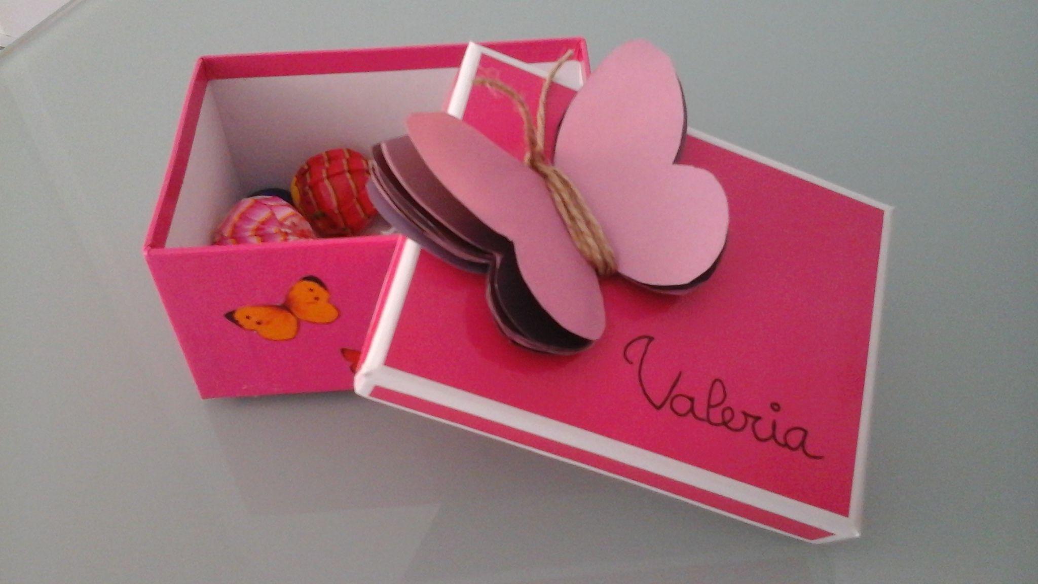 Cajita mariposa para Valeria