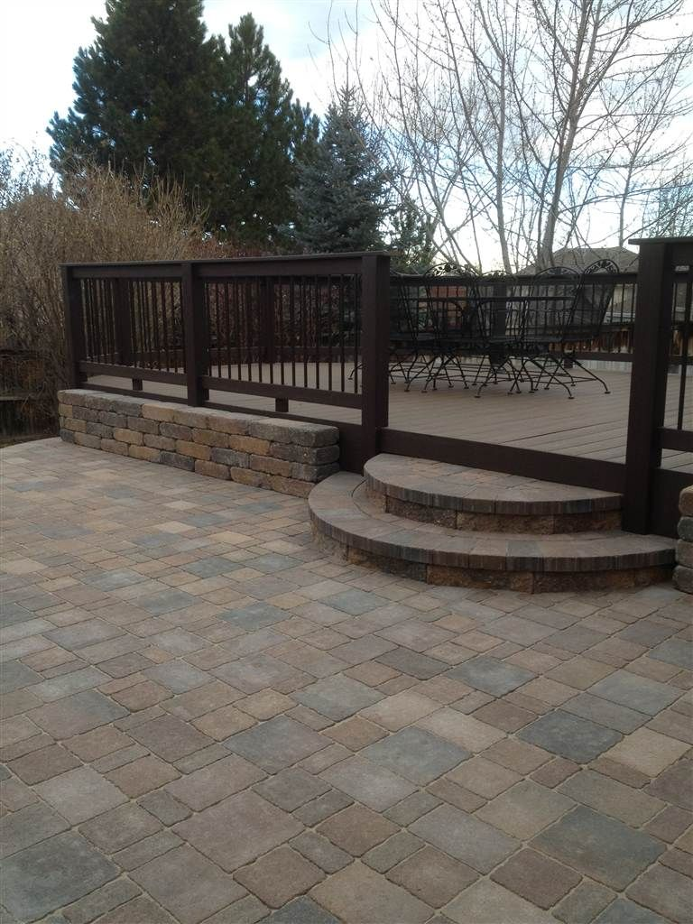 Step Down From Deck To Patio Patio Deck Designs Backyard Railings Outdoor
