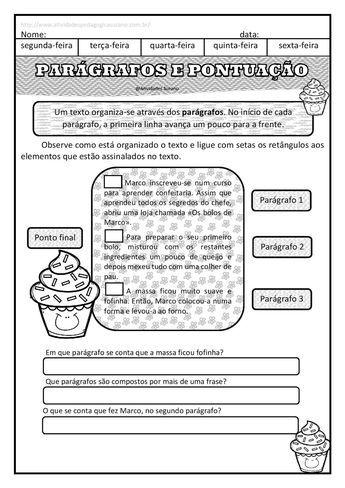 Singular Plural E Paragrafos Com Imagens Atividades