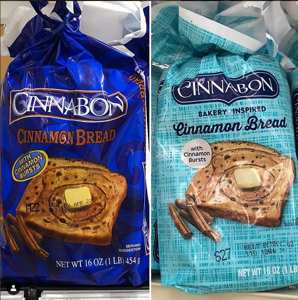 Cinnabon Bakery Inspired Cinnamon Bread Old And New Packaging Cinnamon Bread Cinnabon Bakery
