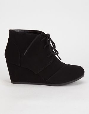 7d2b34d871e9 SODA Desert Wedge Girls Booties Black