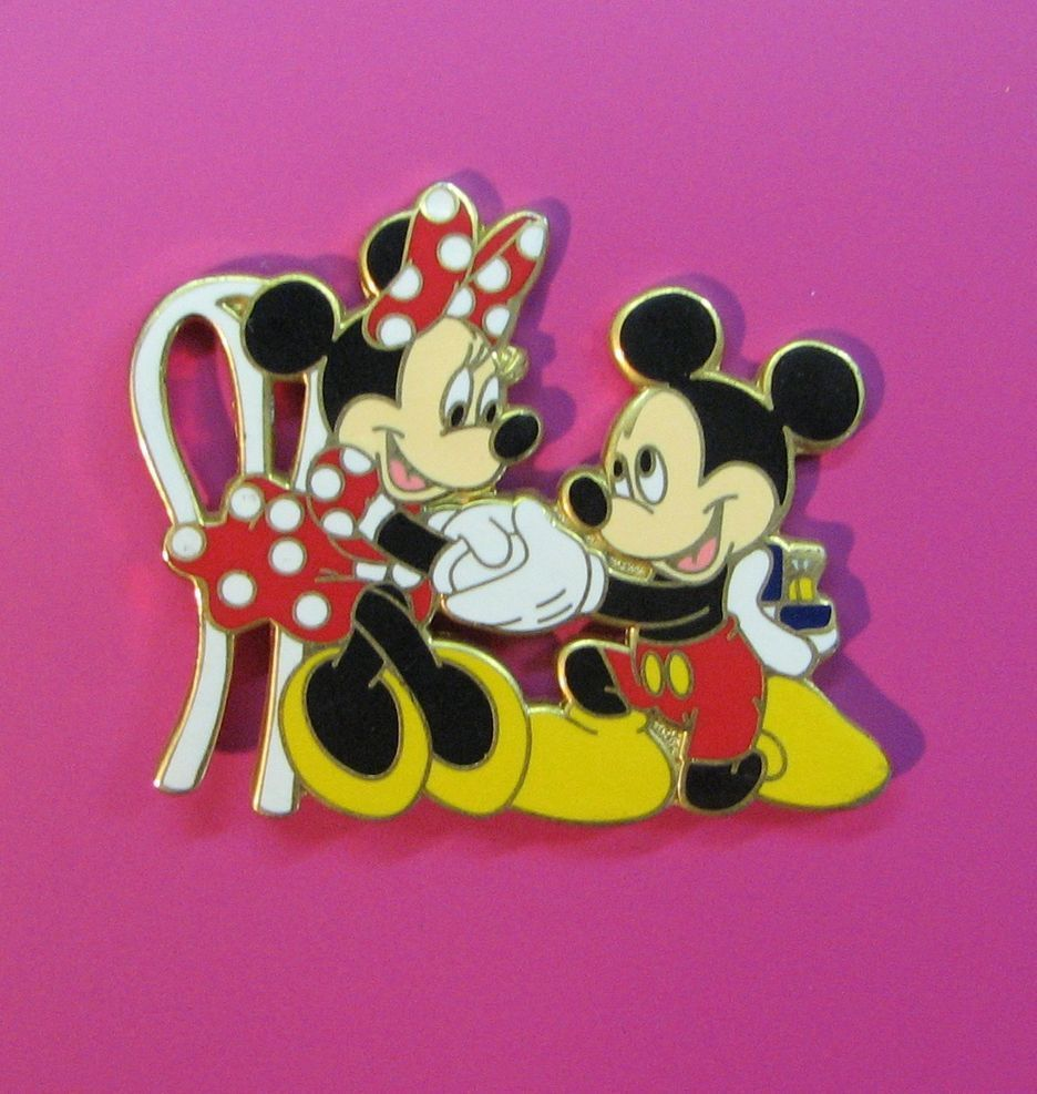 MICKEY On KNEE W/RING MINNIE ENGAGEMENT MARRIAGE PROPOSAL PROPOSING ...