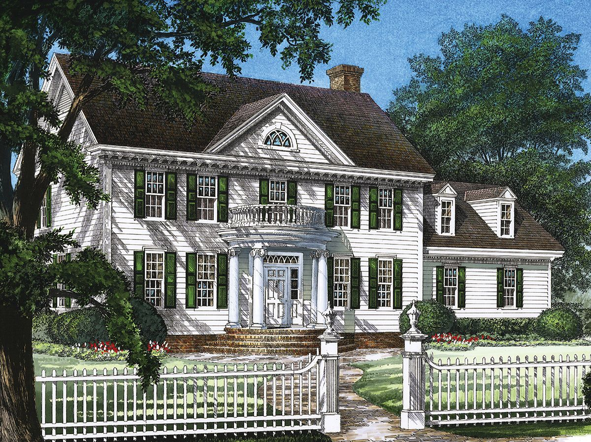 Plan 32559wp Stately Colonial Home Plan Colonial House House Plans Colonial House Plans