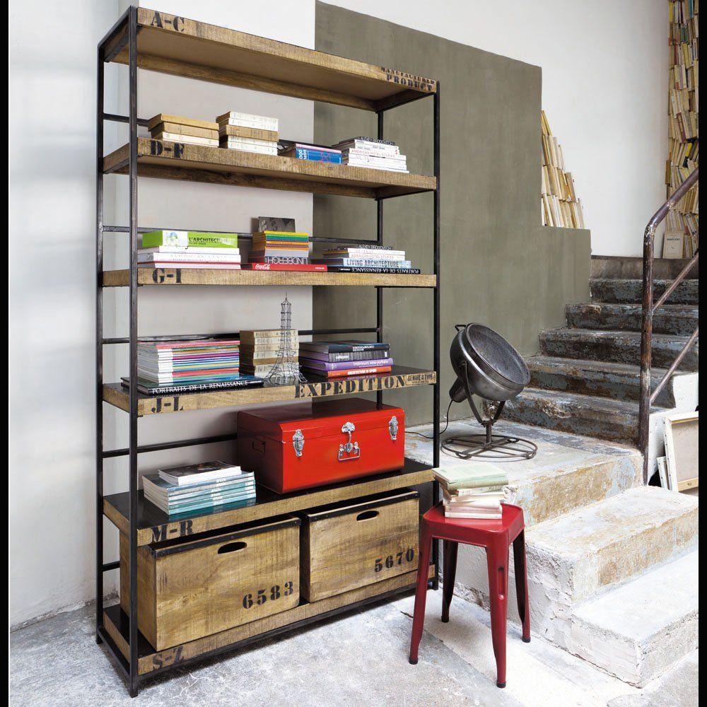 lampe phare maisons du monde industriel etagere. Black Bedroom Furniture Sets. Home Design Ideas