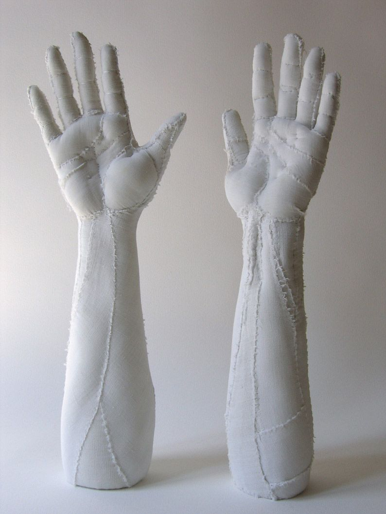 Photo of Anatomical Fabric Sculptures by Artist Karine Jollet