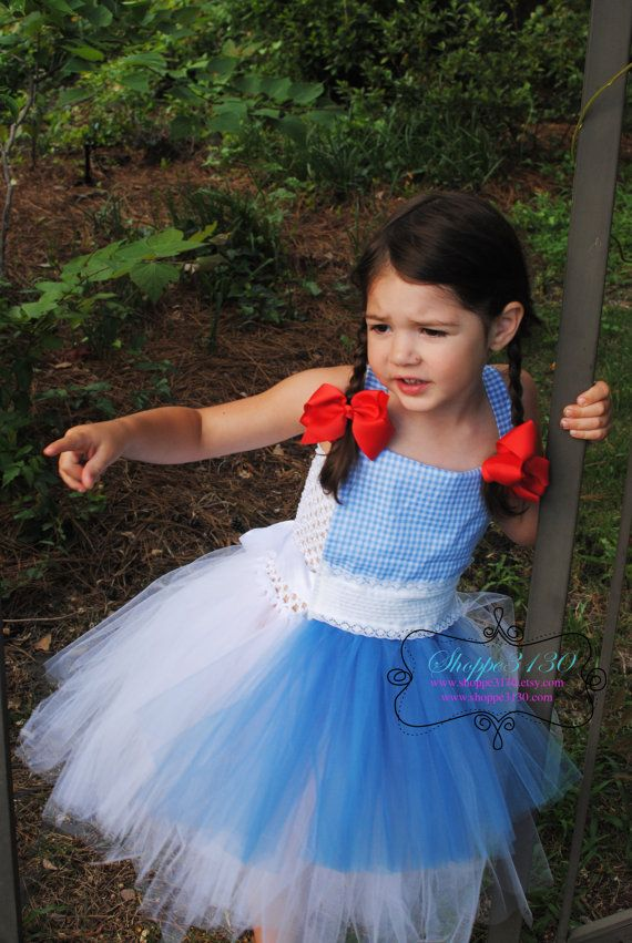 668c29ecb7180 Dorothy Wizard of Oz Inspired tutu dress costume for baby or toddler or  childrenwww.shoppe3130.etsy.com #shoppe3130