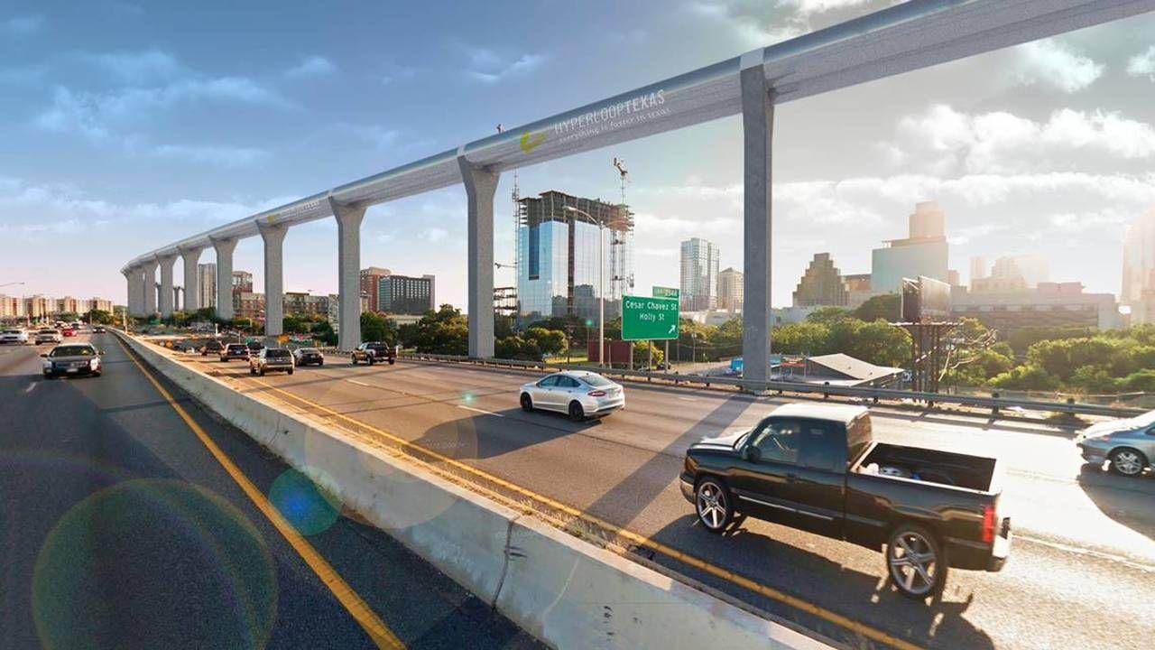 Hyperloop or highspeed rail which will whoosh through