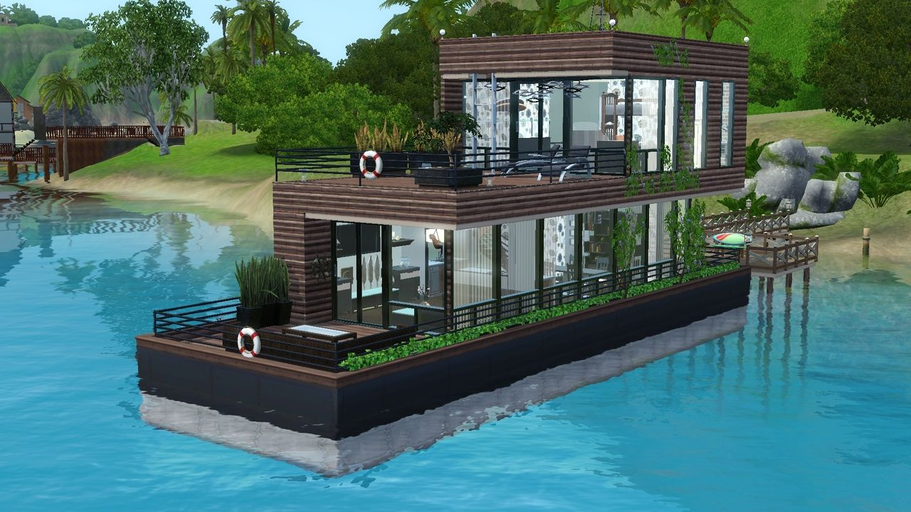 The Sims Official Tumblr Eco House Boat Sims Freeplay Houses Minecraft Modern House Designs Minecraft House Plans