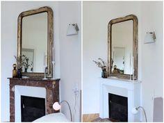 repeindre une chemin e en marbre en brique chemin e. Black Bedroom Furniture Sets. Home Design Ideas