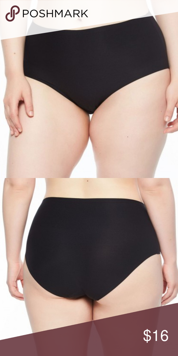 501d5b656b4a CHANTELLE SOFT STRETCH FULL BRIEF PANTY BLACK OS CHANTELLE 11370 PLUS SIZE  SEAMLESS FULL BRIEF PANTY