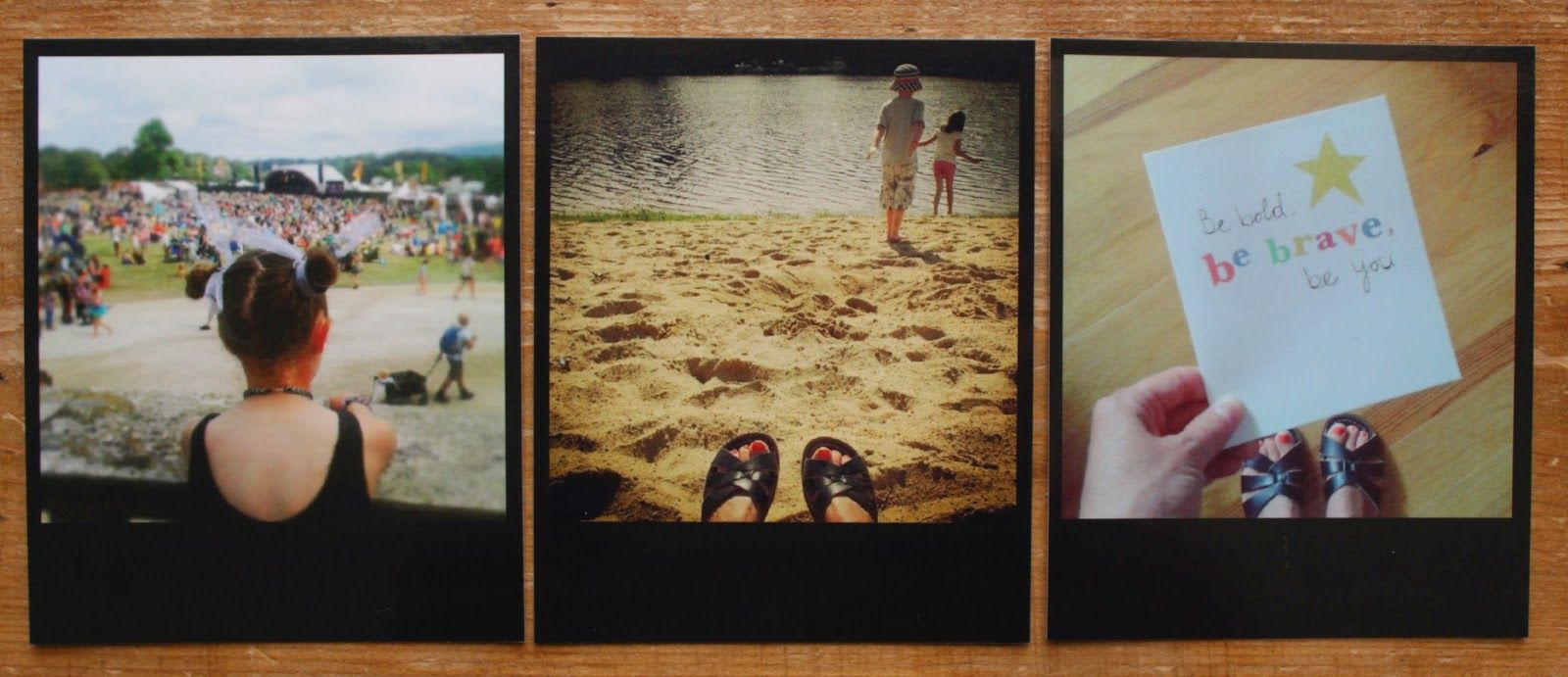Black frame polaroid style colour prints from Square-Snaps Review ...